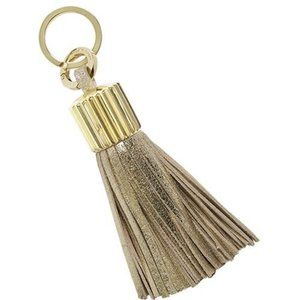 India Hicks Agra Tassel Gold Crackle Leather